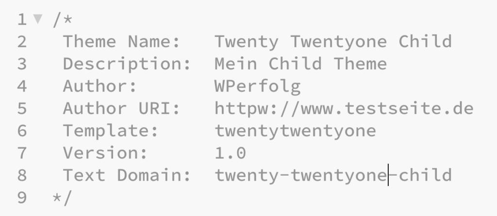 wordpress child theme ftp css code