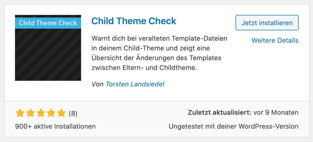 wordpress-child-theme-plugin-check sicherheit
