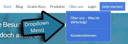 wordpress dropdown menue erstellen navigation unterpunkte