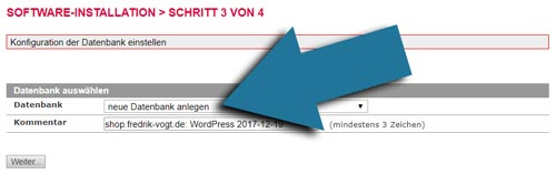 wordpress einrichten datenbank anleitung wperfolg