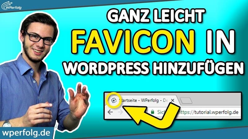wordpress favicon einfuegen aendern f