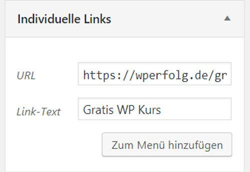 wordpress individuelle links