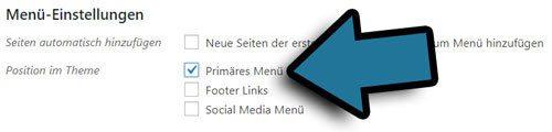 wordpress menue position aendern und hinzufuegen