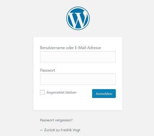 wordpress mit Domain verbinden und einloggen