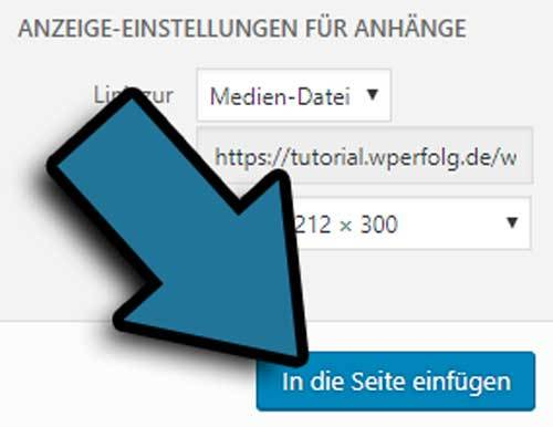 wordpress pdf einfuegen button