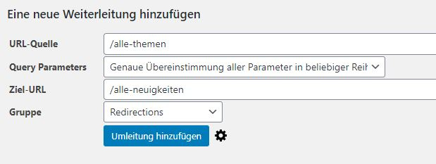 wordpress-plugin-redirection-einrichtung