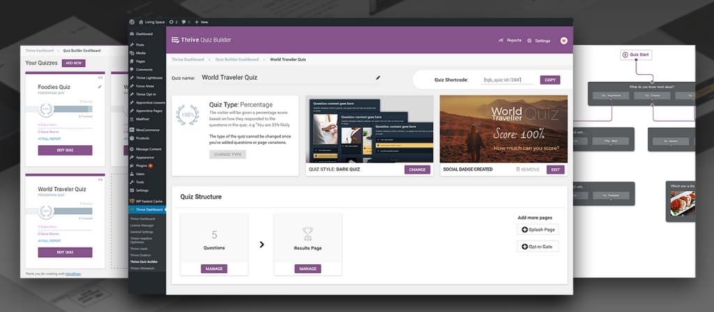 wordpress-quiz-thrive builder