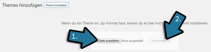 avada wordpress theme hochladen
