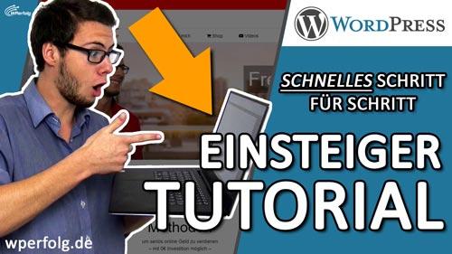 wordpress tutorial deutsch fuer anfaenger website erstellen 2018 bild einfuehrung