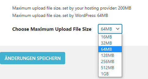wordpress upload limit erhöhen increase maximum upload file size plugin
