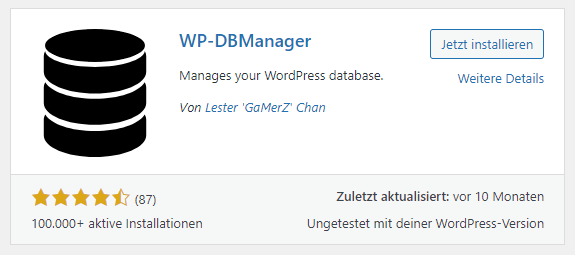 wp-dbmanager plugin