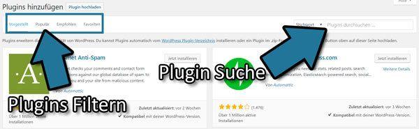 wp plugin verzeichnis