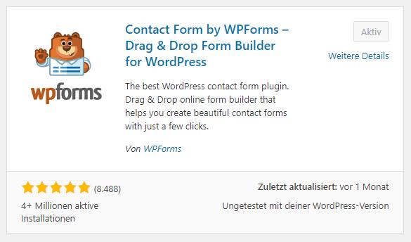 wp plugin wpforms