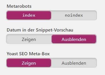 yoast seo kostenlos einrichten metarobots
