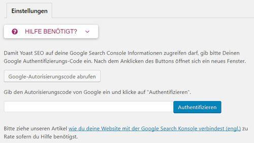 yoast suchkonsole mit google search console verbinden